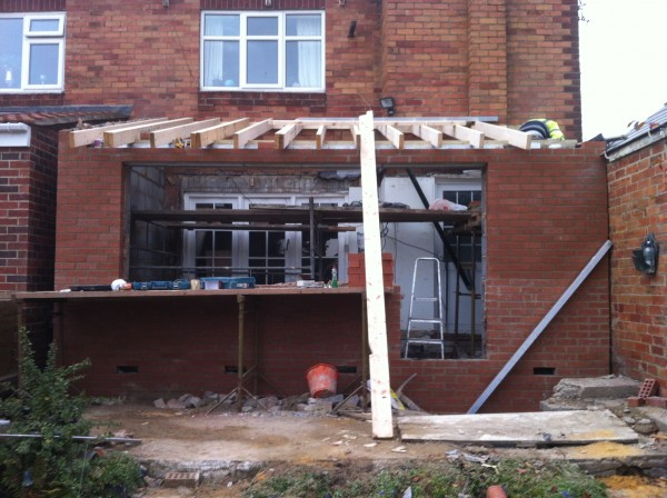 Building new extension Sunderland