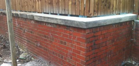Rebuilding unstable wall – Newcastle