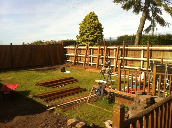 New fence Sunderland - Panels being added