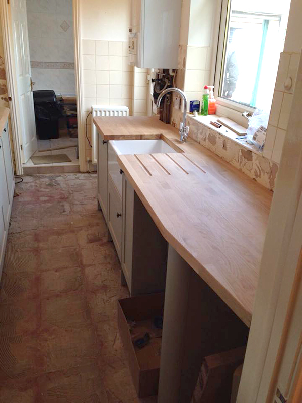 Kitchen Fitting Sunderland - Oak Surface