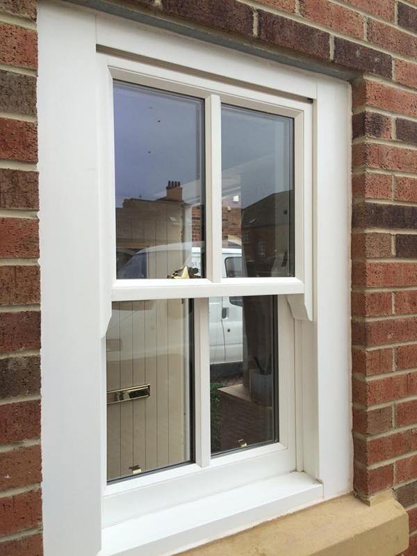 Timber sash double glazed window - exterior