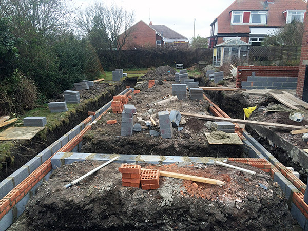 Sunderland extensions brickwork